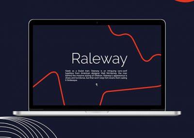 Raleway – Interactif type specimen